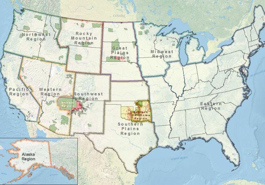 BIA Regional Map